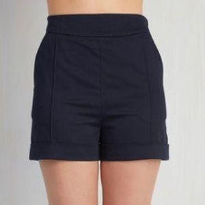 Modcloth Navy High Waisted Shorts